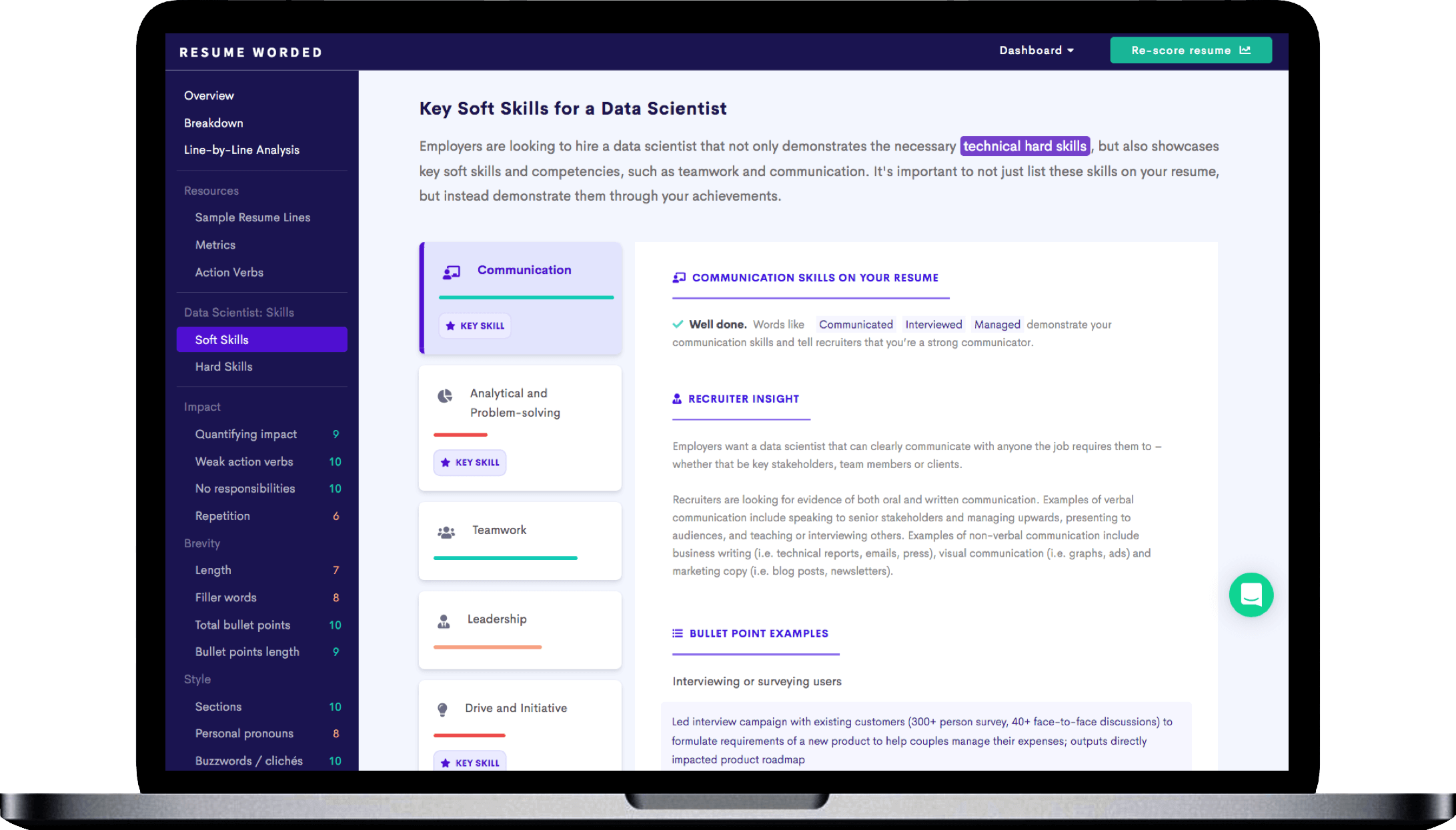 Data Science Resume Checker Free Resume Review For Data