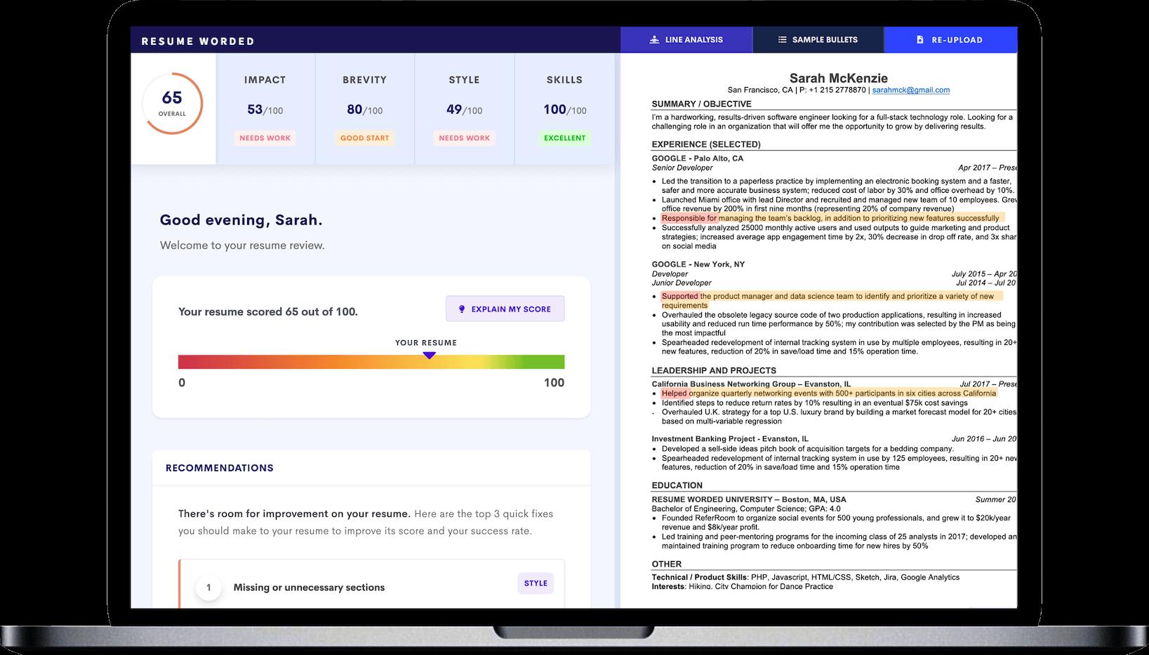 score my resume - get a free resume score