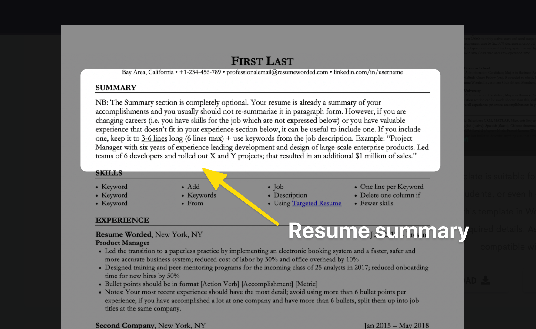 how to write a resume summary if you're changing careers
