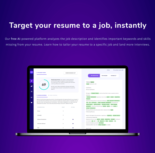 Does your resume contain the right keywords? Try the job description keyword finder to find out!